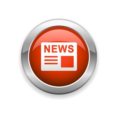 News Communication Glossy Icon