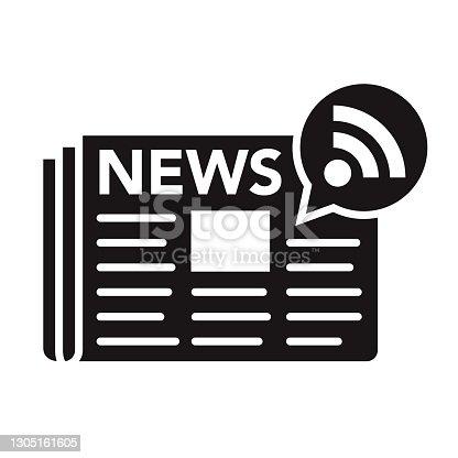 istock News Communication Glyph Icon 1305161605