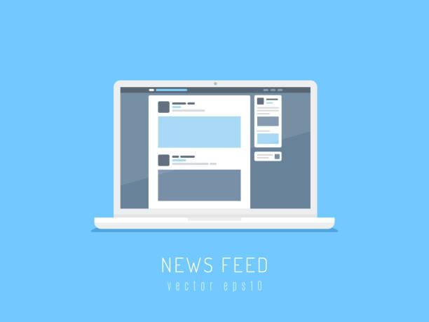 News Feed vector art illustration
