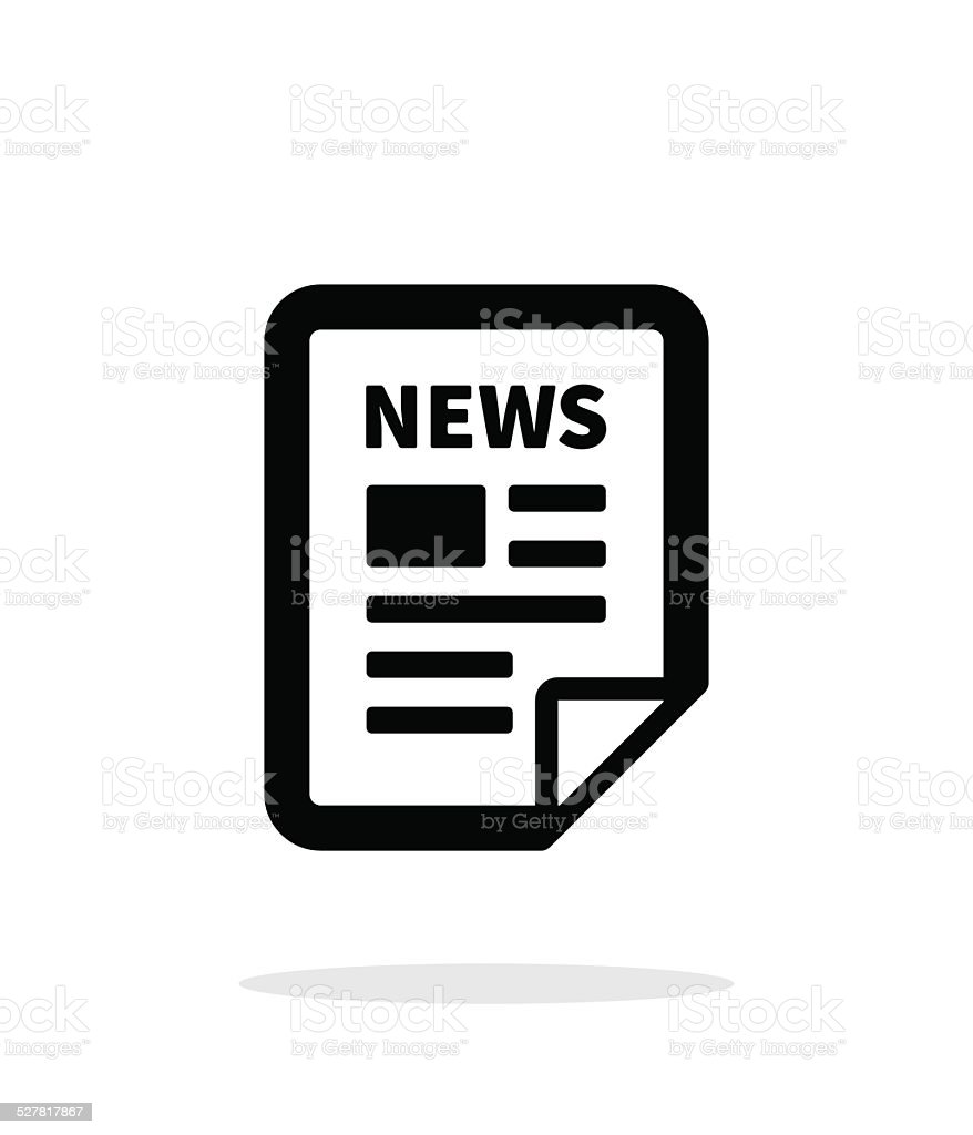 News file icon on white background. vector art illustration