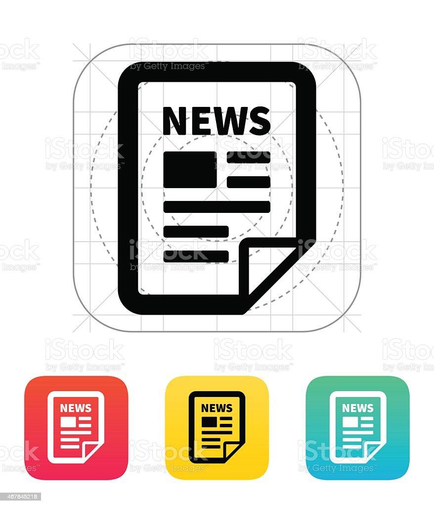 News file icon vector art illustration