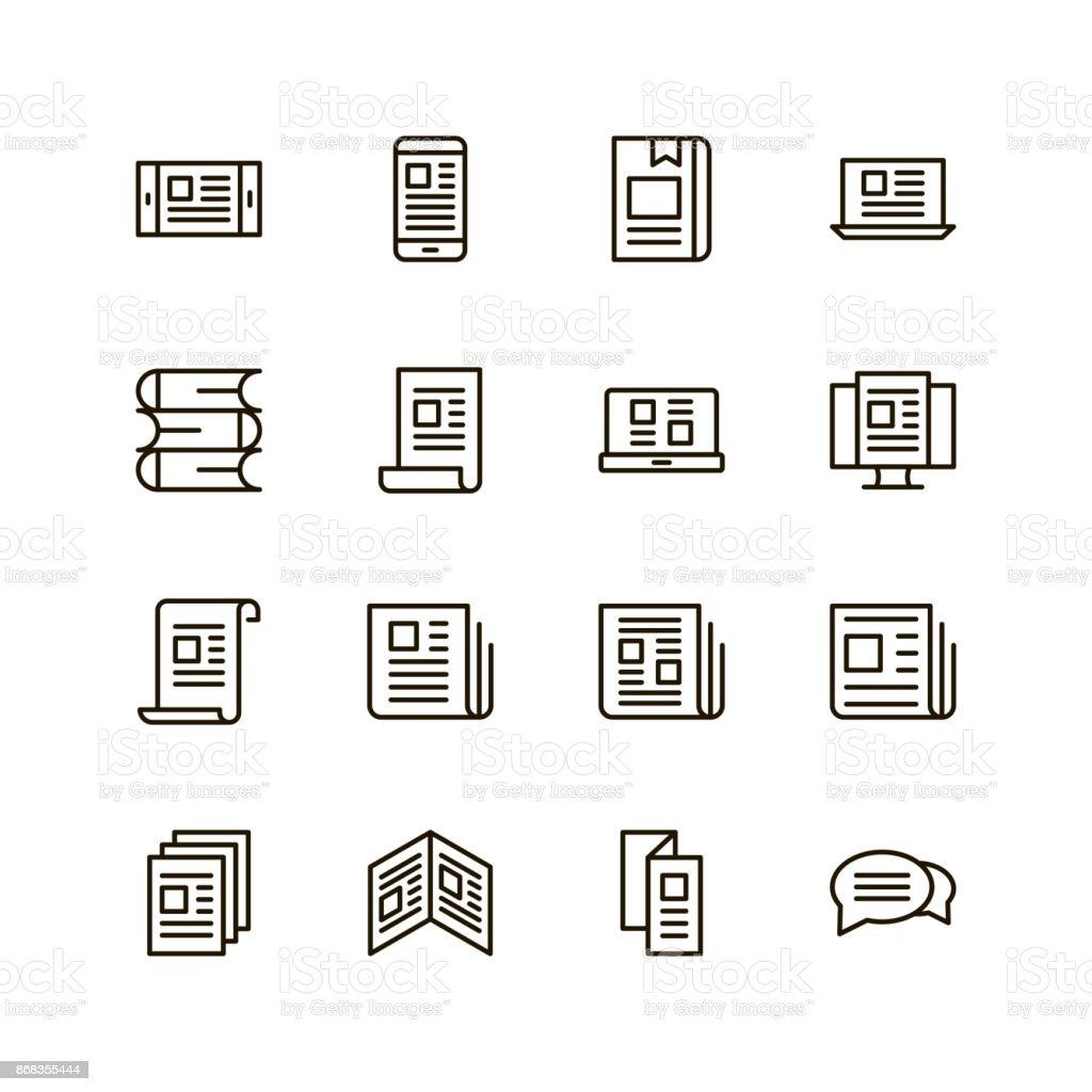 News flat icon vector art illustration
