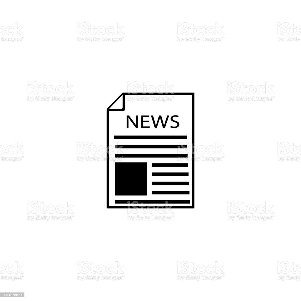 Nachrichtensymbol Zeitung Linie Symbol Symbol Vektorgrafik Umriss ...