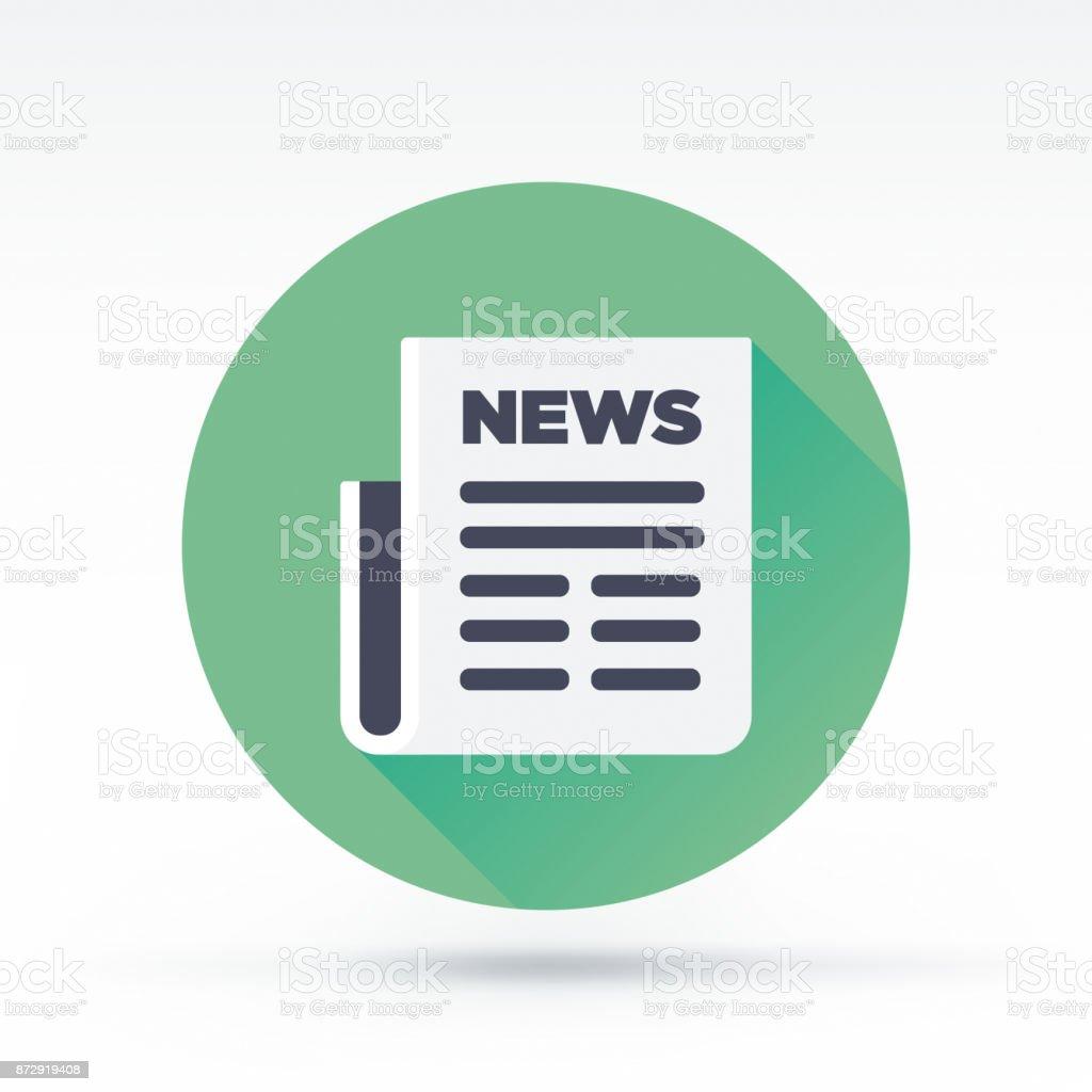 News Icon vector art illustration