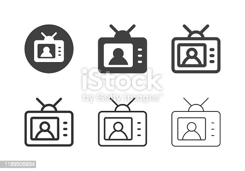 TV News Icons Multi Series Vector EPS File.
