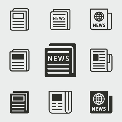 News icons set. clipart