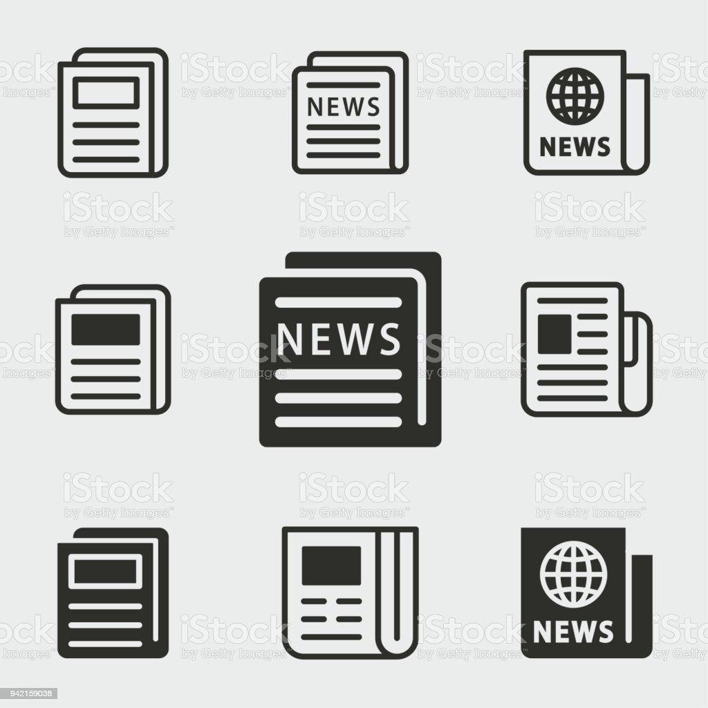 Nachrichten-Symbole festgelegt. – Vektorgrafik