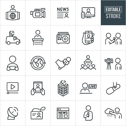 media icons stock illustrations
