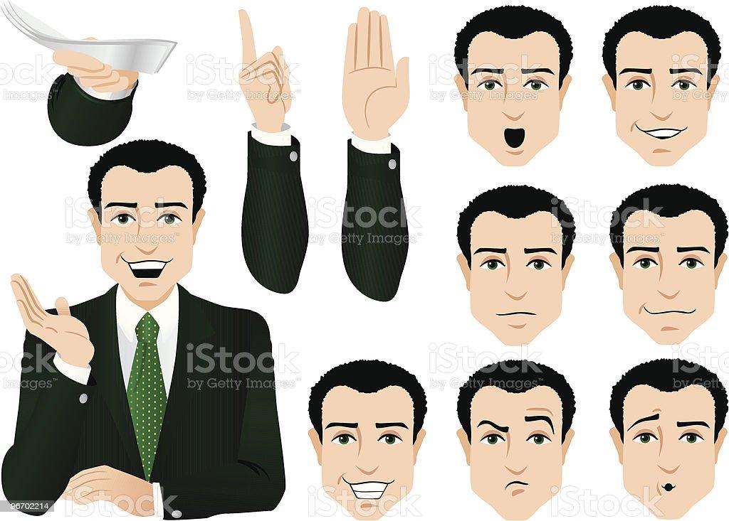 News Men royalty-free stock vector art
