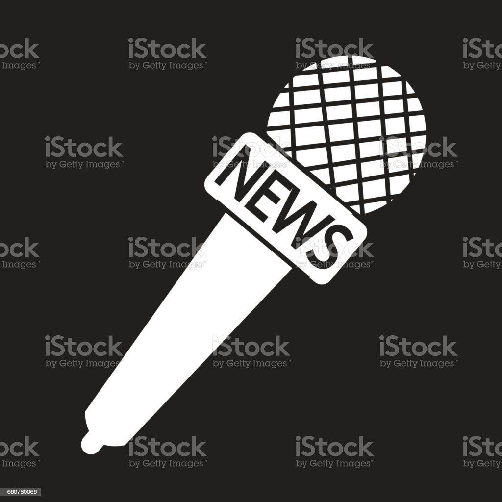 news microphone icon vector art illustration