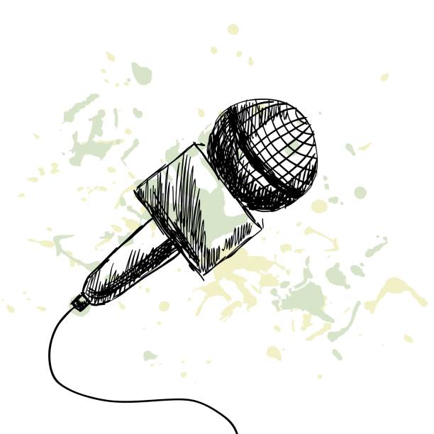 illustrations, cliparts, dessins animés et icônes de actualités rapport microphone - interview