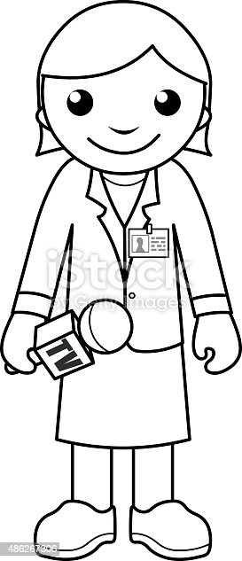 News Reporter Coloring Page For Kids Stock Vector Art