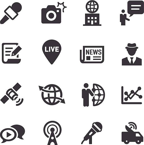 News Reporter Icons-Acme Series – Vektorgrafik