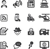 News Reporter Silhouette icons| EPS10