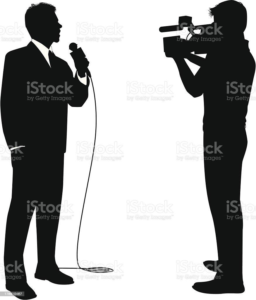 News Reporter vector art illustration