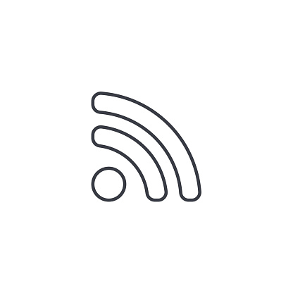 RSS News thin line icon. Linear vector symbol