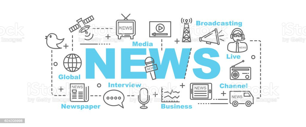 news vector banner - ilustración de arte vectorial