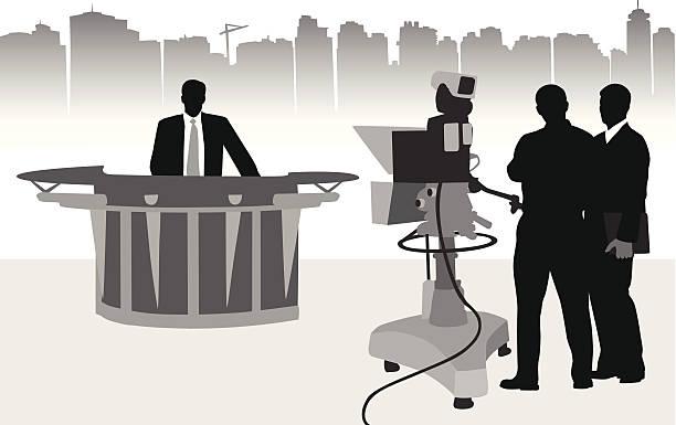 studio tv television clip camera presenter vector crew operator illustrations clipart graphics broadcasting film cartoons icons results newsroom related rf