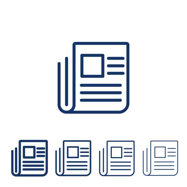 stockillustraties, clipart, cartoons en iconen met nieuws vector lijn pictogram - bloggen