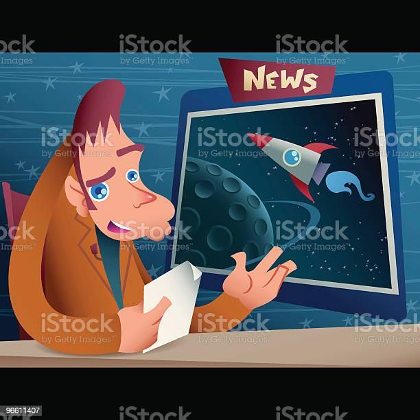 Newscaster-vektorgrafik och fler bilder på Brunt hår