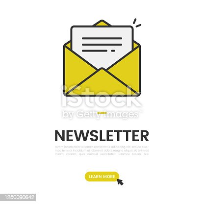 istock Newsletter and Email Subscribe Banner Vector Design. 1250090642