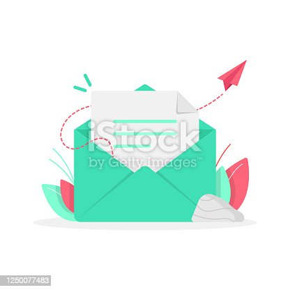 istock Newsletter and Email Subscribe Icon Flat Design. 1250077483