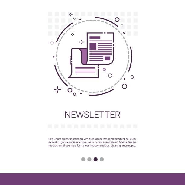 stockillustraties, clipart, cartoons en iconen met nieuwsbrief toepassing krant webbanner met kopie ruimte - woman home magazine