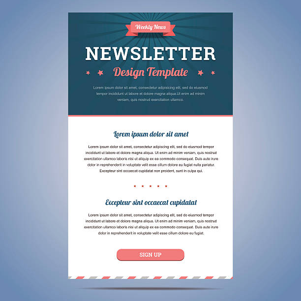 newsletter design template - email templates stock illustrations