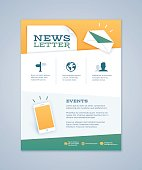 Newsletter design concept with space for your content. EPS 10 file. Transparency effects used on highlight elements.
