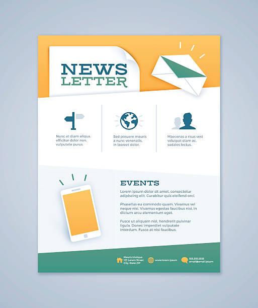 stockillustraties, clipart, cartoons en iconen met newsletter design - versturen