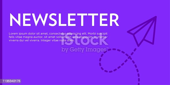 Newsletter Flat Web Banner