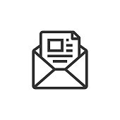 istock Newsletter Line Icon 1298247848