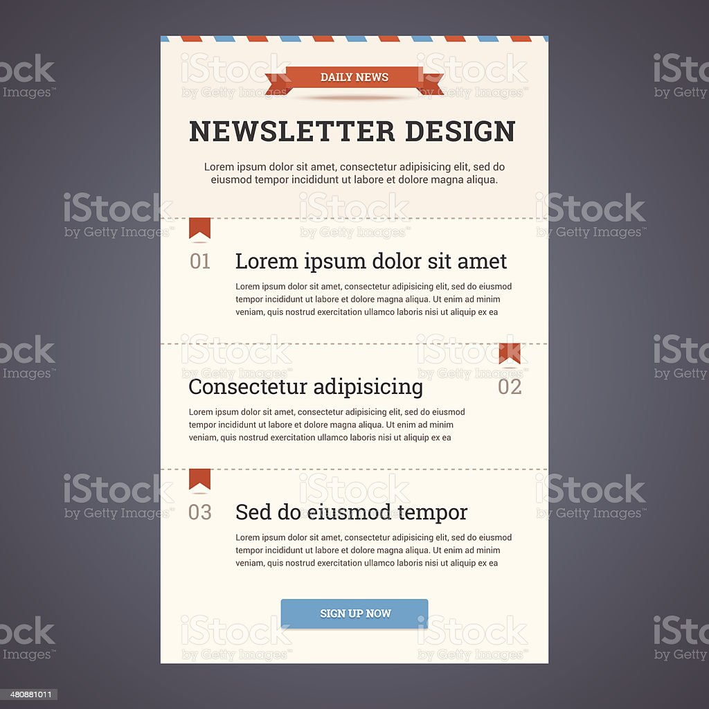 Newsletter Template Stock Vector Art More Images Of Abstract - Daily newsletter template