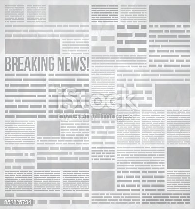 Abstract breaking news and newspaper background concept.