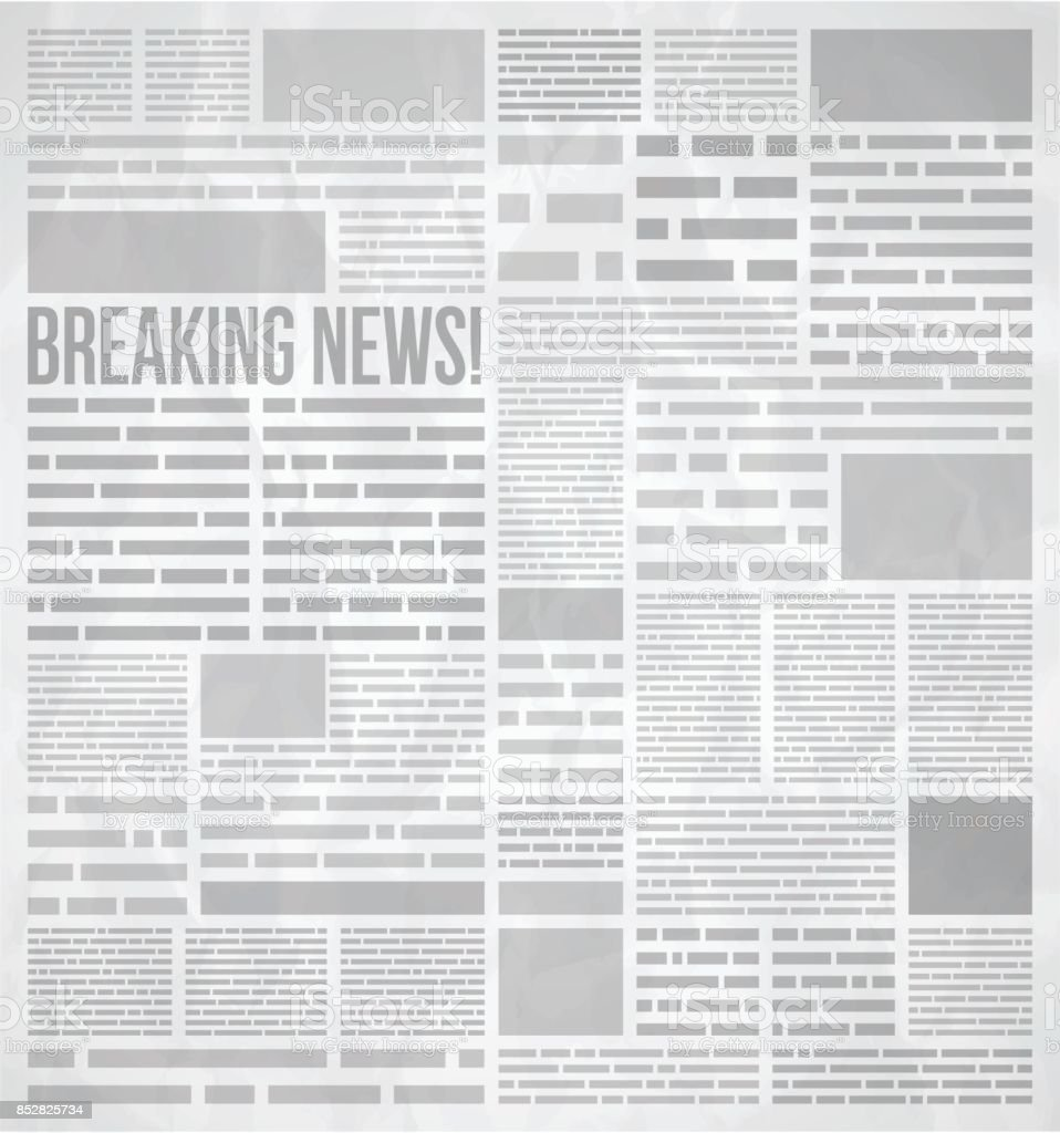 Newspaper Background vector art illustration
