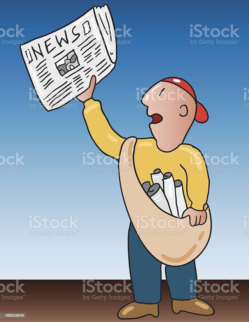 newspaper boy royalty-free stock vector art
