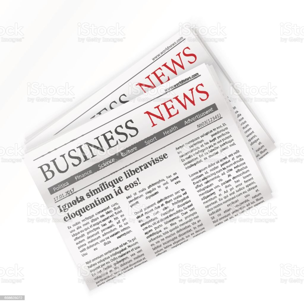 Newspaper. Business news. Regional newspapers business news. vector art illustration