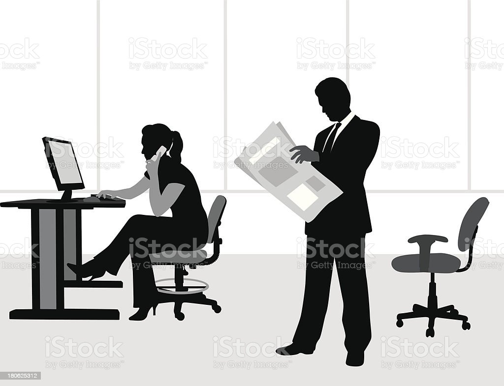 Newspaper Cellphone royalty-free newspaper cellphone stock vector art & more images of illustration