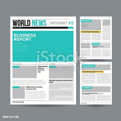 Newspaper Design Template Vector Modern Newspaper Layout Template