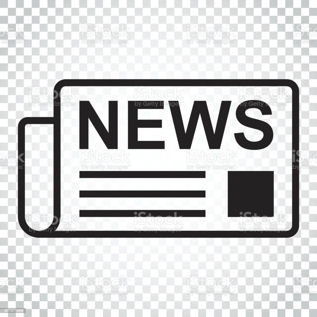 Zeitung Flach Vektor Icon Nachrichtensymboldarstellung Business ...