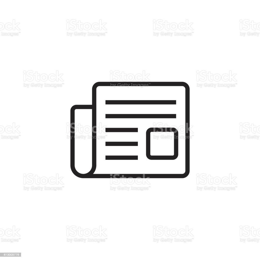 Zeitung Flach Vektor Icon Nachrichtensymboldarstellung Stock Vektor ...