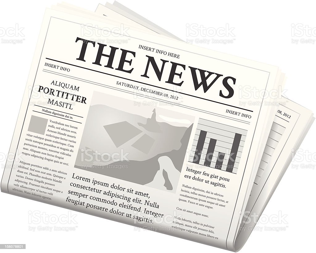 Newspaper - Folded vector art illustration