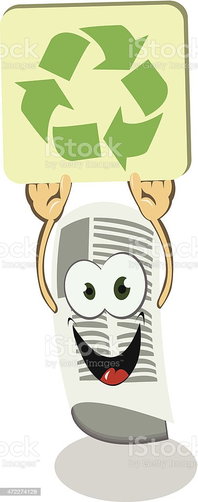 Newspaper holding a recycling sign royalty-free newspaper holding a recycling sign stock vector art & more images of arrow symbol