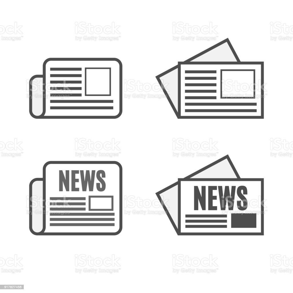 Uizeitungiconset Stock Vektor Art und mehr Bilder von Artikel ...