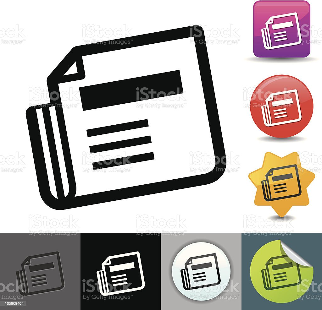 Newspaper icon   solicosi series royalty-free stock vector art