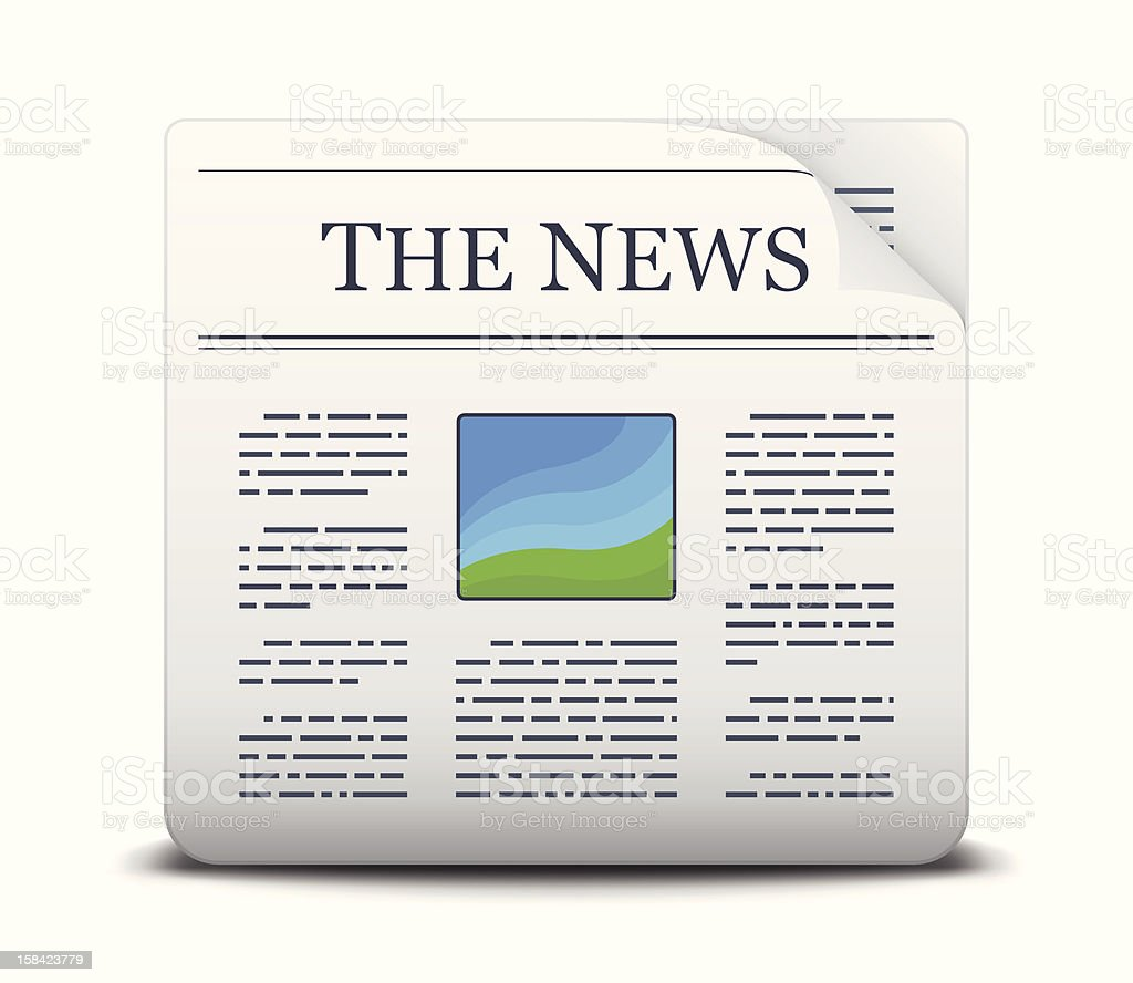 Newspaper Icon royalty-free newspaper icon stock vector art & more images of communication