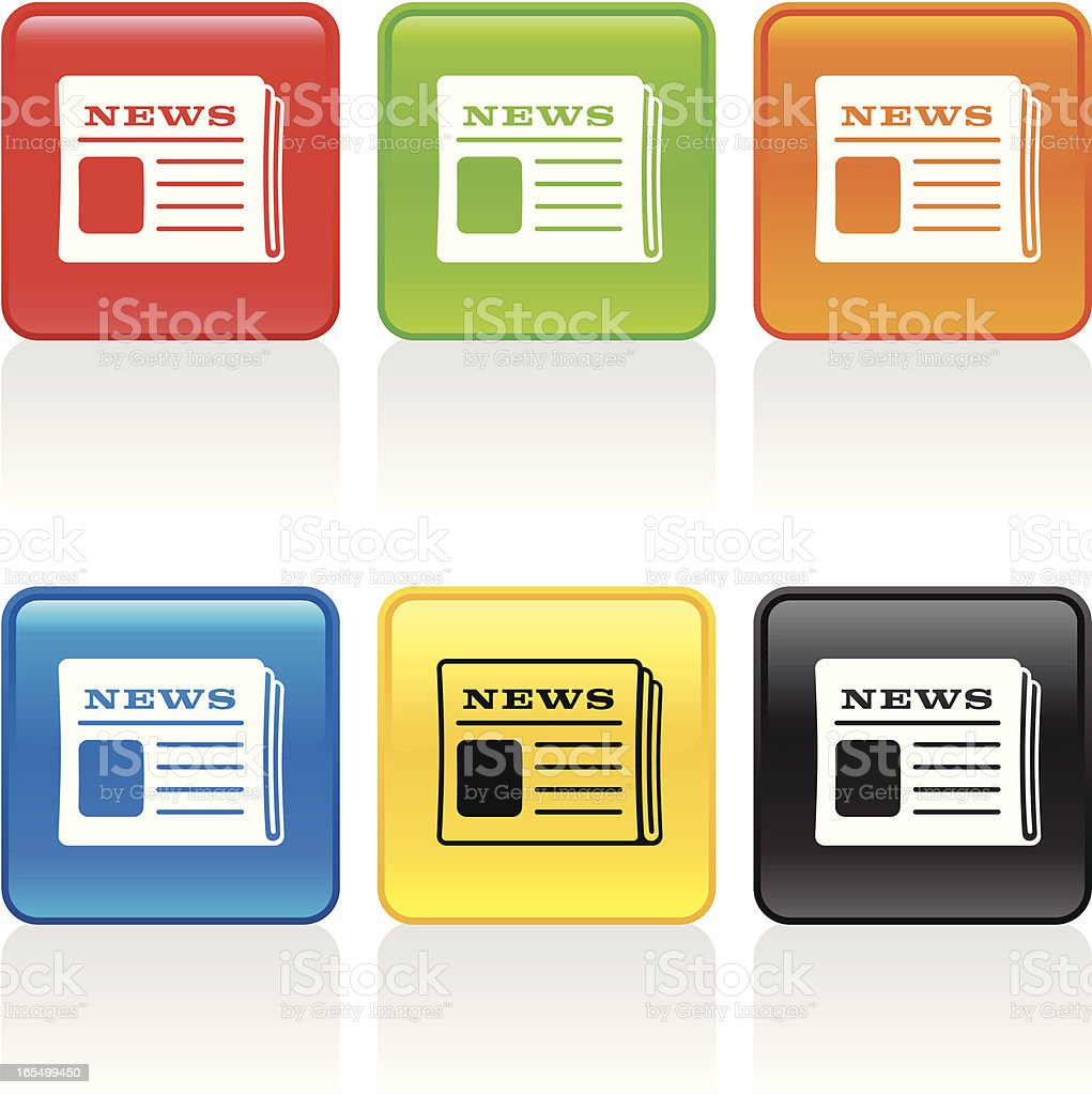 Newspaper Icon royalty-free newspaper icon stock vector art & more images of black color