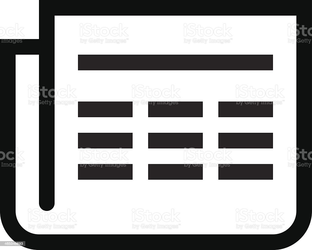 Newspaper icon royalty-free stock vector art