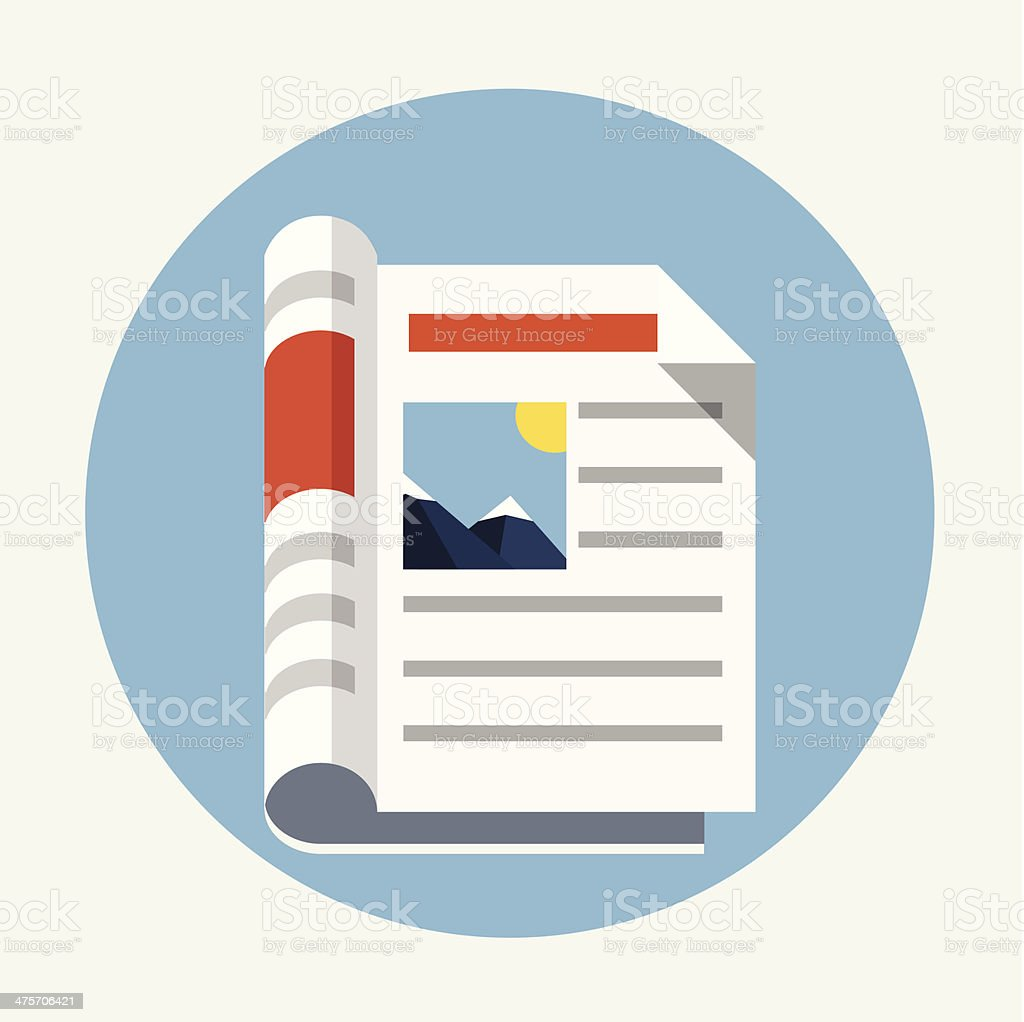 Newspaper icon royalty-free newspaper icon stock vector art & more images of article