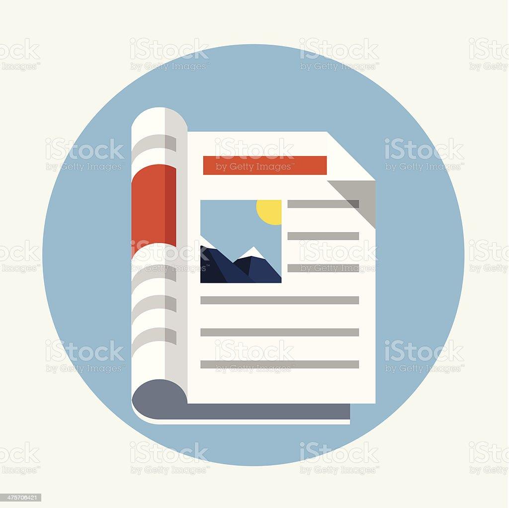 Newspaper icon vector art illustration